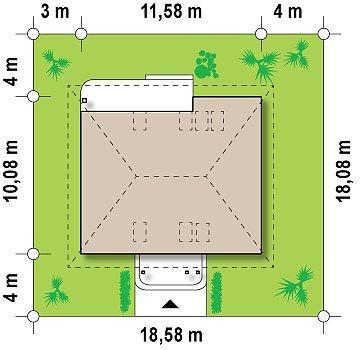 Удобный и красивый дом традиционного характера с двумя дополнительными спальнями на первом этаже. план помещений 1