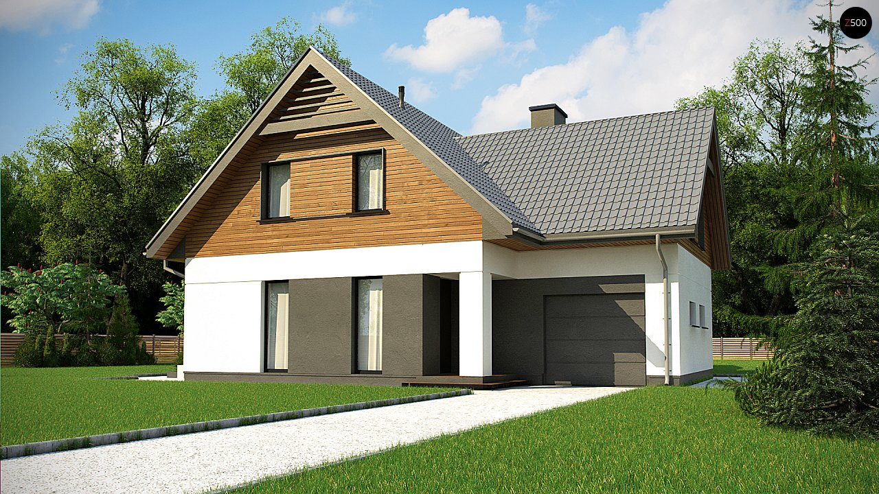 Современный жилой дом с гаражом 3