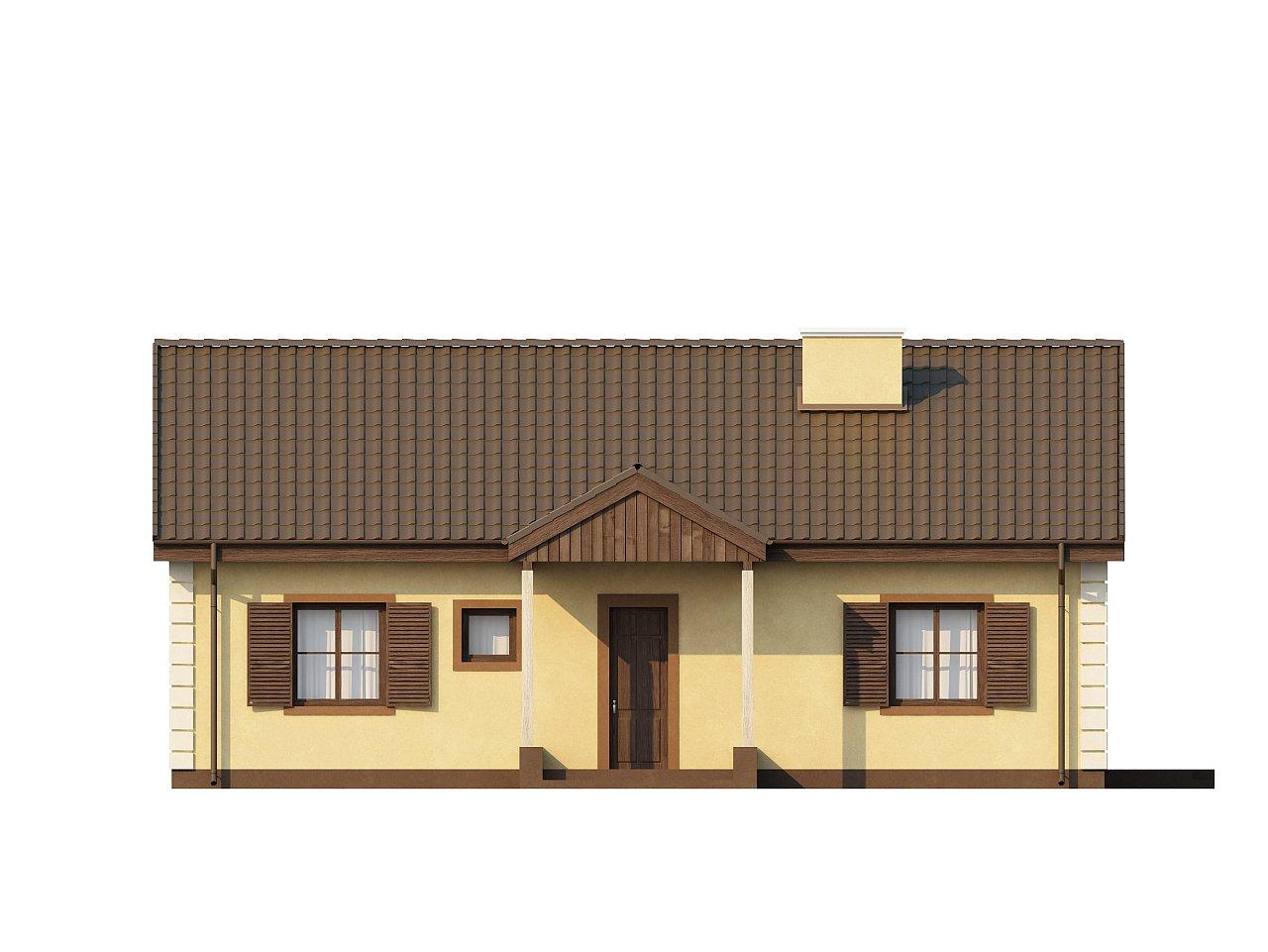 Выгодный и простой в строительстве дом полезной площадью 100 м2. 12