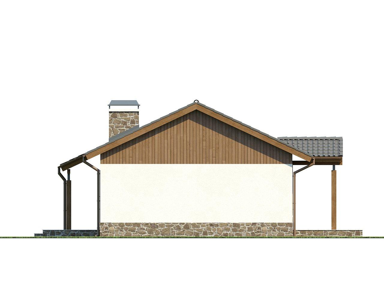 Экономичный в реализации одноэтажный дом с просторной гостиной и двумя спальнями. 15