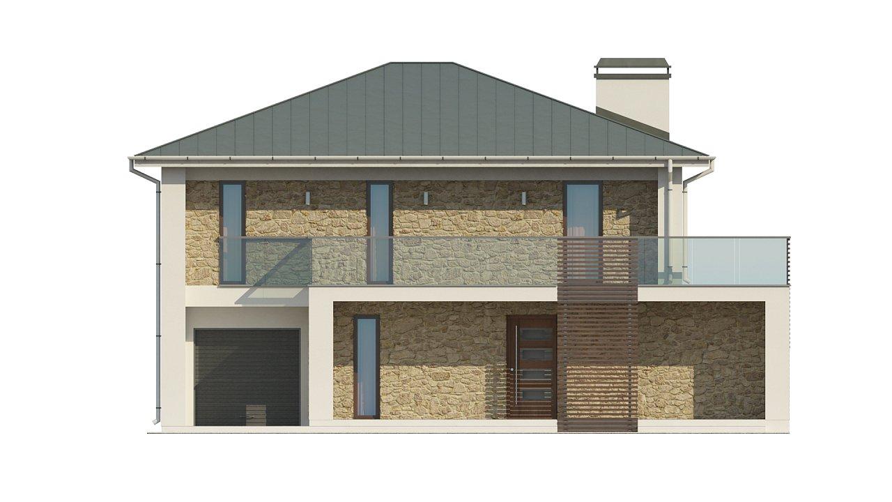 Просторный и комфортный двухэтажный дом с большими окнами. 12