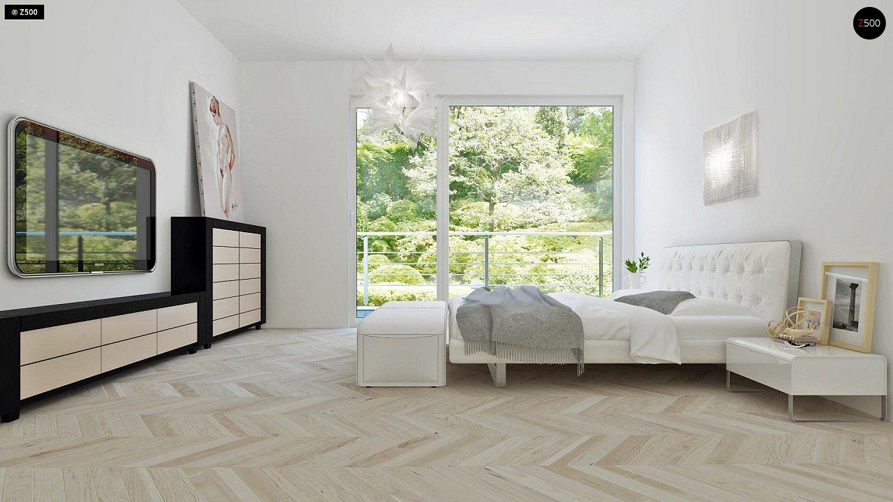 Проект компактного двухэтажного дома строгого современного стиля. 10