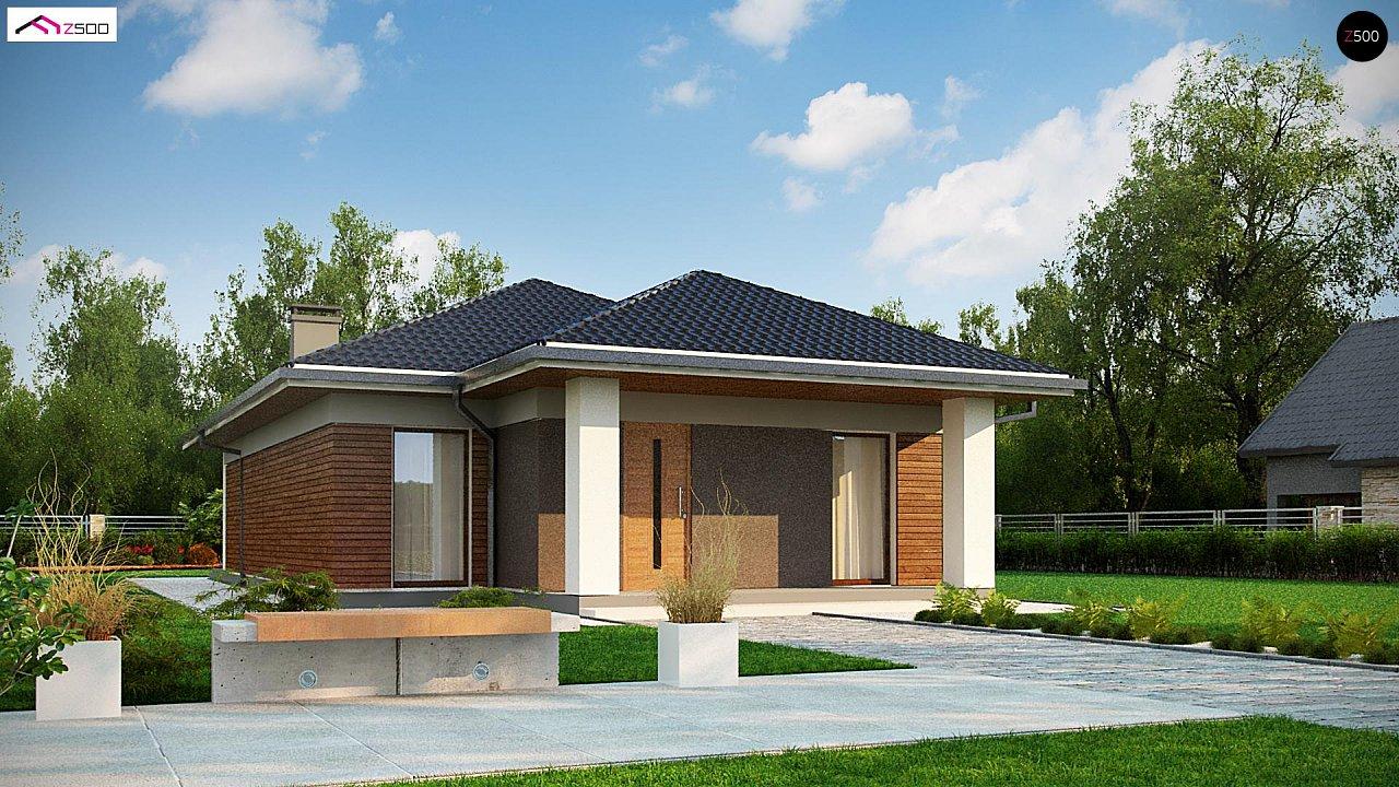 Одноэтажный дом в традиционном стиле с просторной гостиной - фото 3