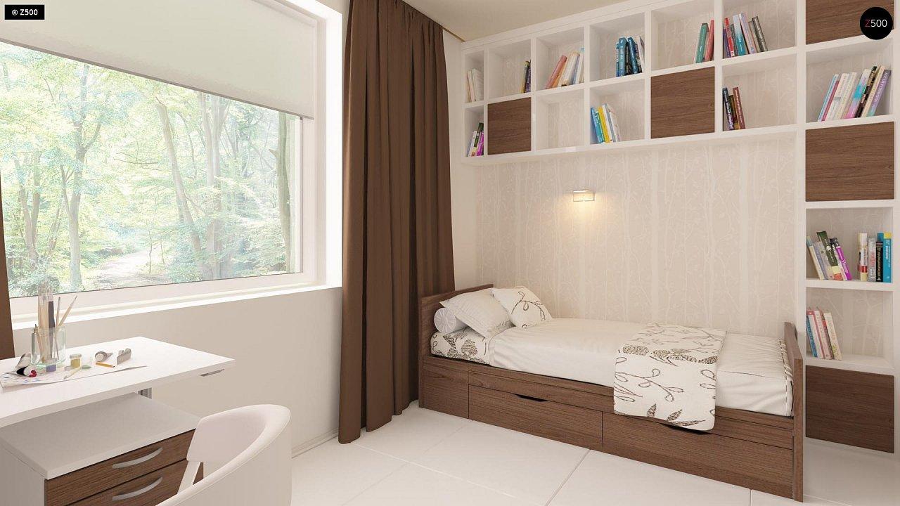 Проект компактного одноэтажного дома, экономичного как в строительстве, так и в эксплуатации. 8