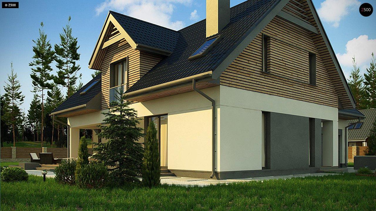 Стильный и аккуратный мансардный дом с гаражом для двух машин. 3
