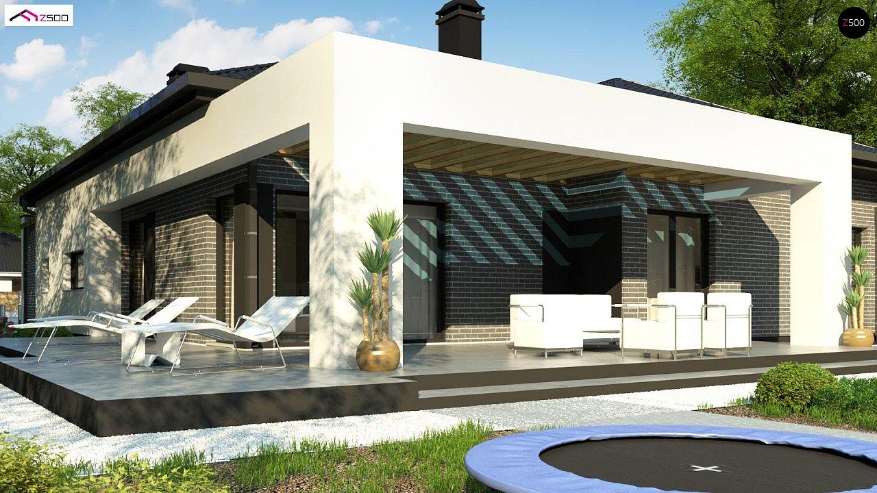 Одноэтажный дом с четырьмя спальнями и гаражом на два автомобиля - фото 4