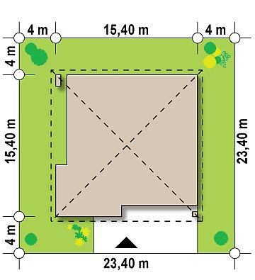 Практичный одноэтажный дом с четырьмя спальнями и гаражом. план помещений 1