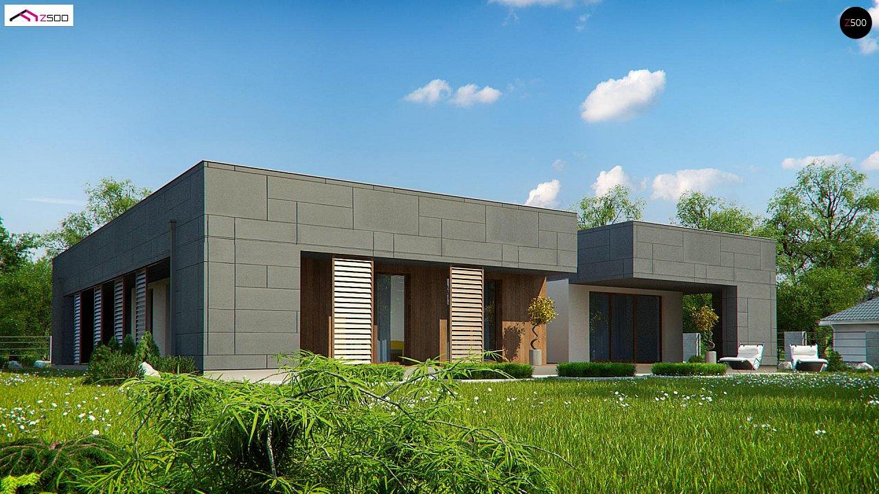Современный односемейный одноэтажный дом с плоской крышей - фото 3