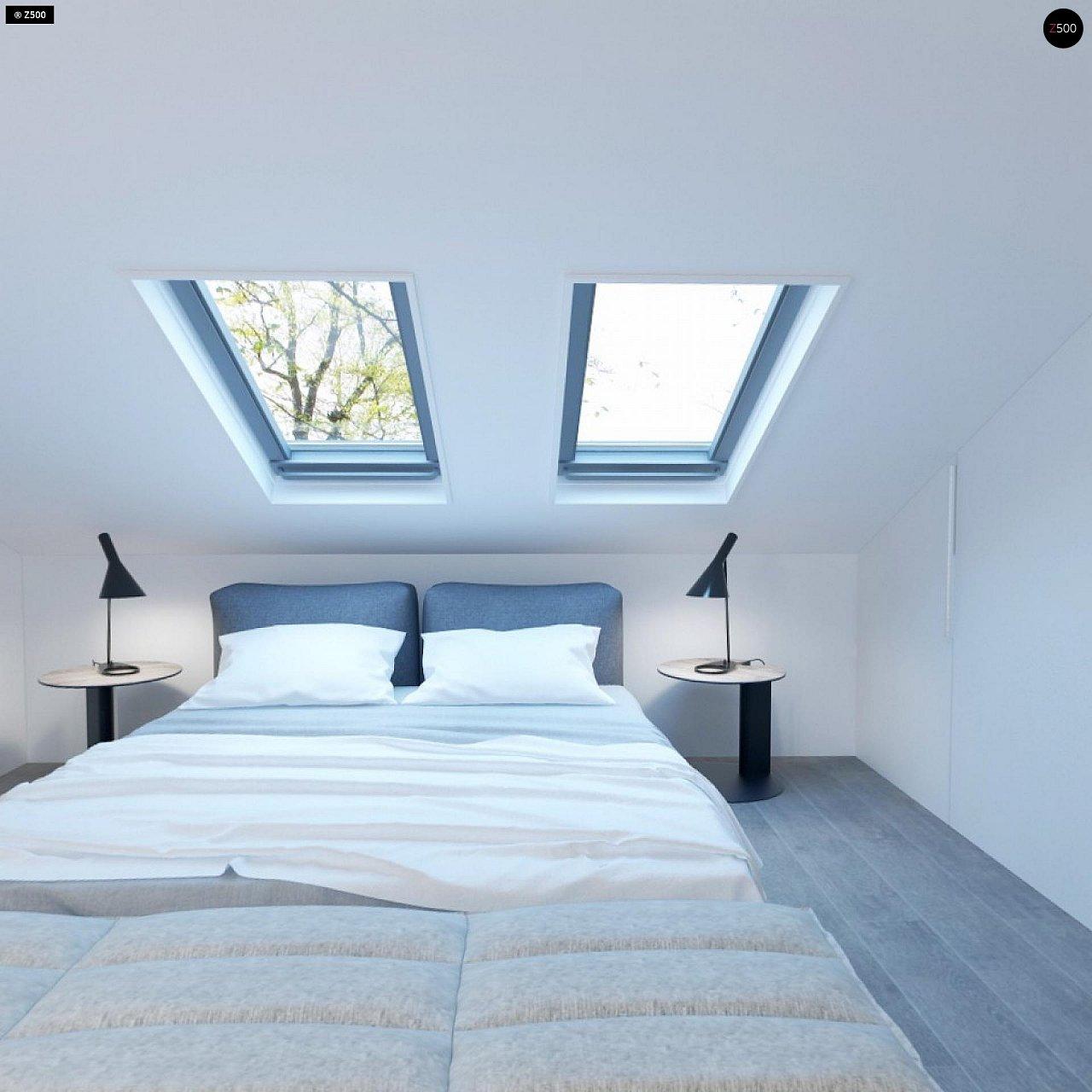 Проект функционального и удобного дома с комнатой над гаражом. 12
