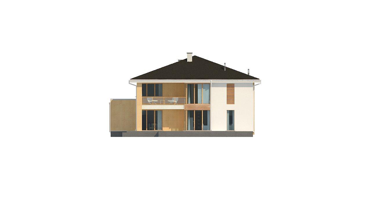 Проект комфортабельного двухэтажного коттеджа современного дизайна 7