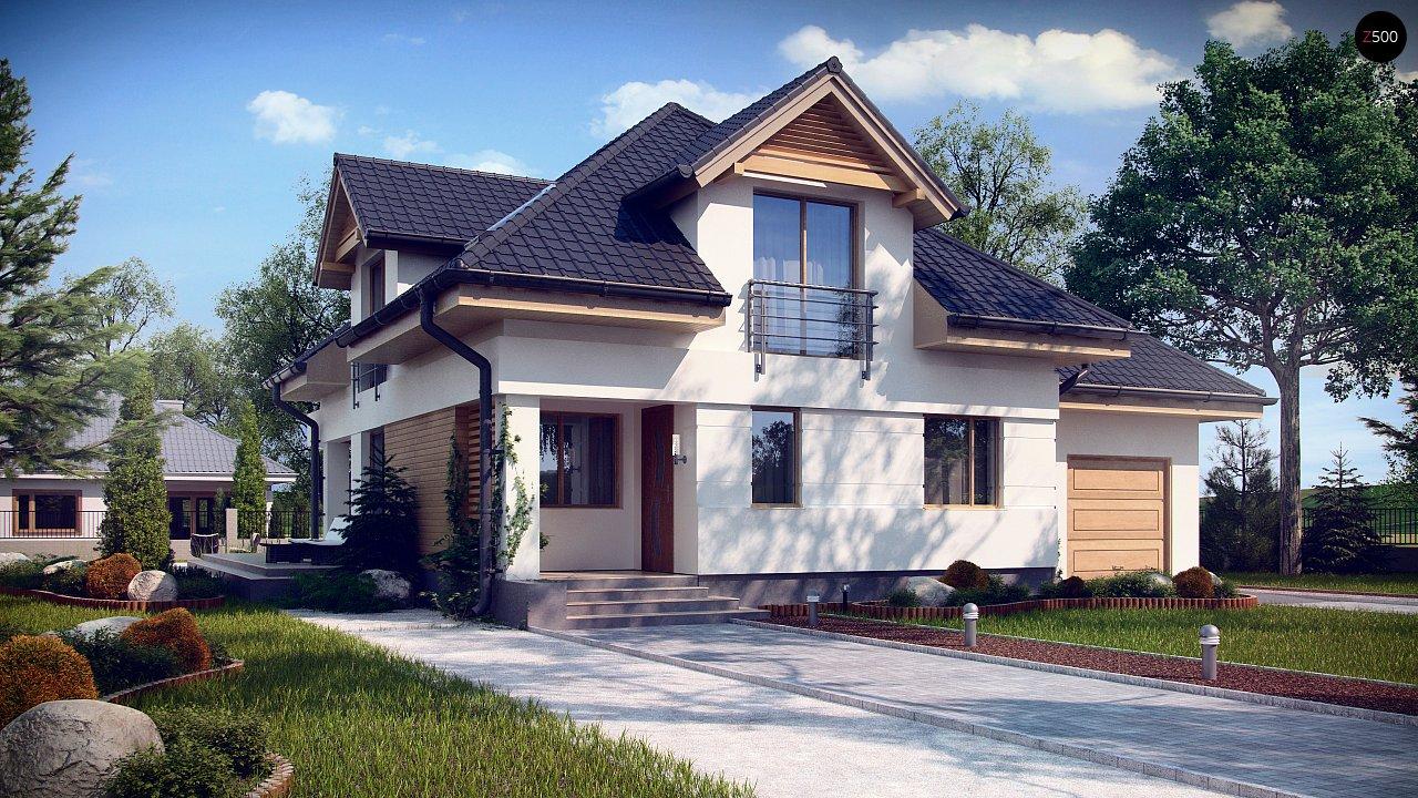 Комфортный дом привлекательного дизайна с дополнительной комнатой над гаражом. 1