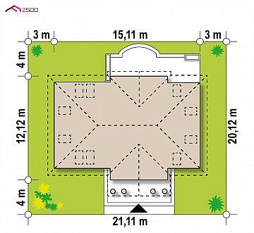Проект дома в классическом стиле с роскошной мансардой и стильным экстерьером. план помещений 1