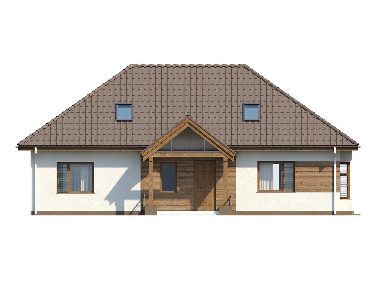 Проект традиционного дома с возможностью адаптации чердачного помещения. 12
