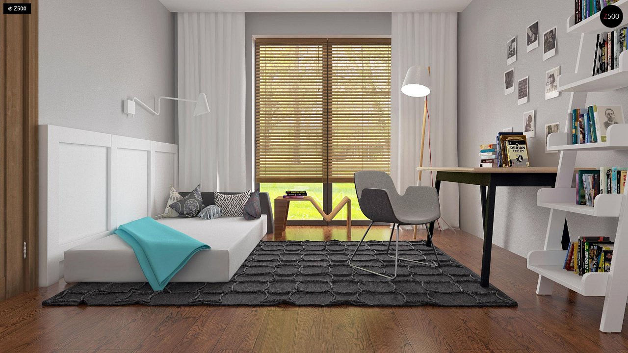 Одноэтажный дом исключительного современного дизайна. 25
