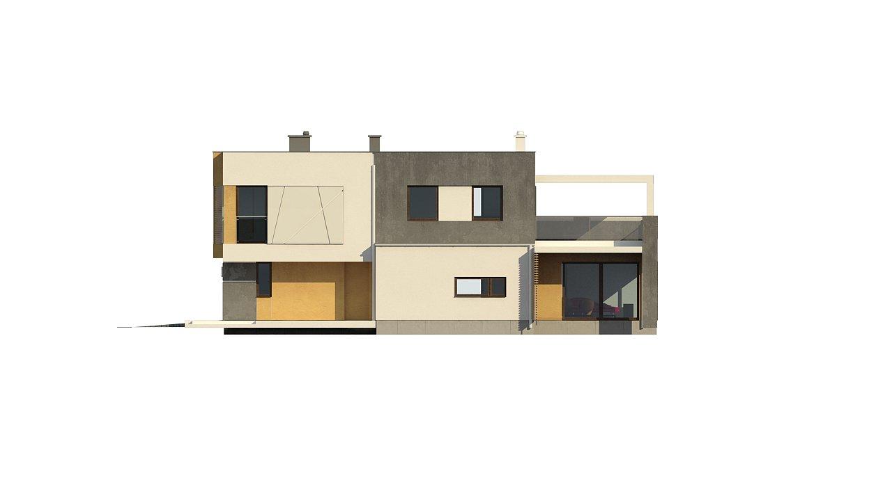 Дом характерного современного дизайна с гаражом и кабинетом на первом этаже. - фото 43