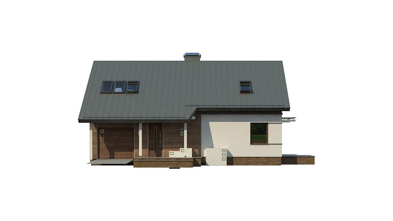 Удобный и красивый дом с красивым окном во фронтоне. 21