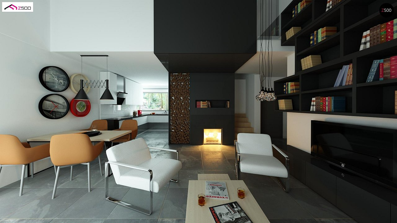Дом со встроенным гаражом, красивым мансардным окном и вторым светом над гостиной. - фото 5