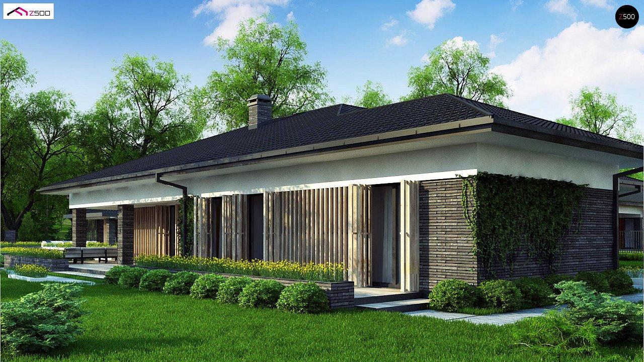 Проект стильного одноэтажного дома в традиционном стиле - фото 7