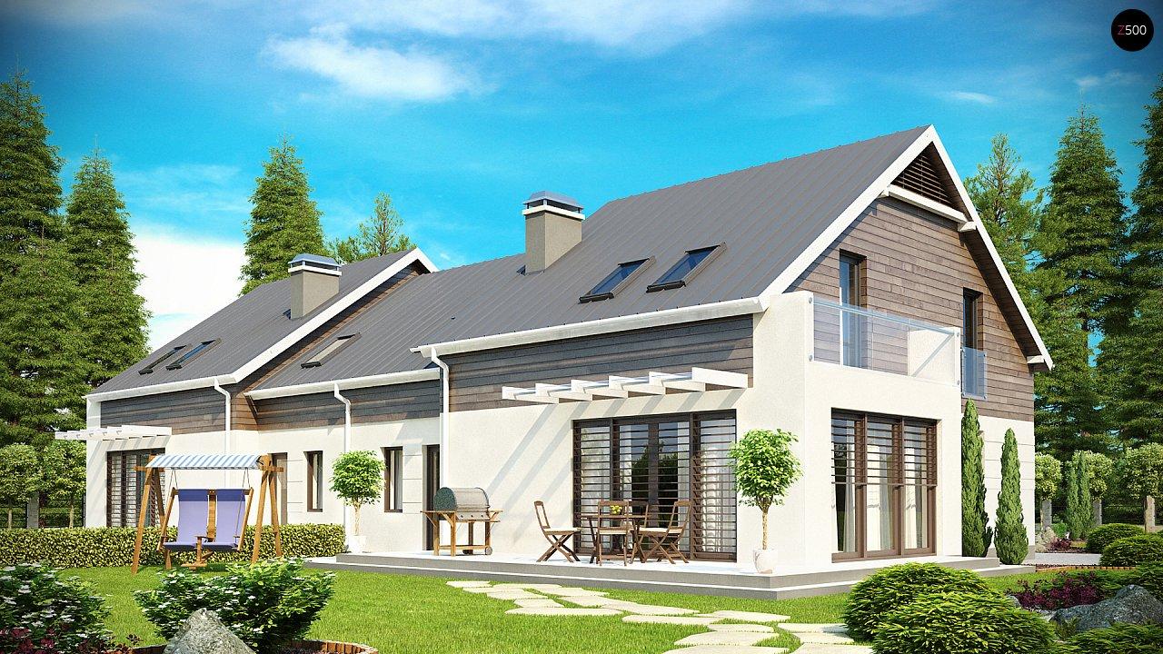 Простой и удобный дом для симметричной застройки с боковым гаражом. - фото 2