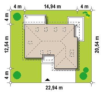 Просторный дом традиционной формы с гаражом и дополнительной небольшой ночной зоной на первом этаже. план помещений 1