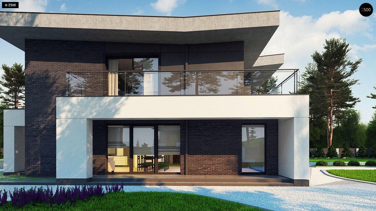 Современный стильный двухэтажный дом, с гаражом для двух машин 3