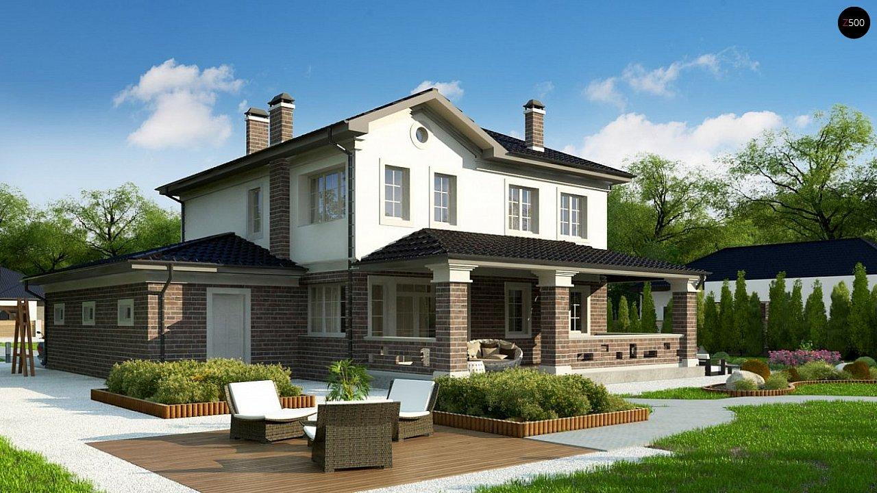 Проект двухуровневого просторного дома с гаражом на одно авто. - фото 3