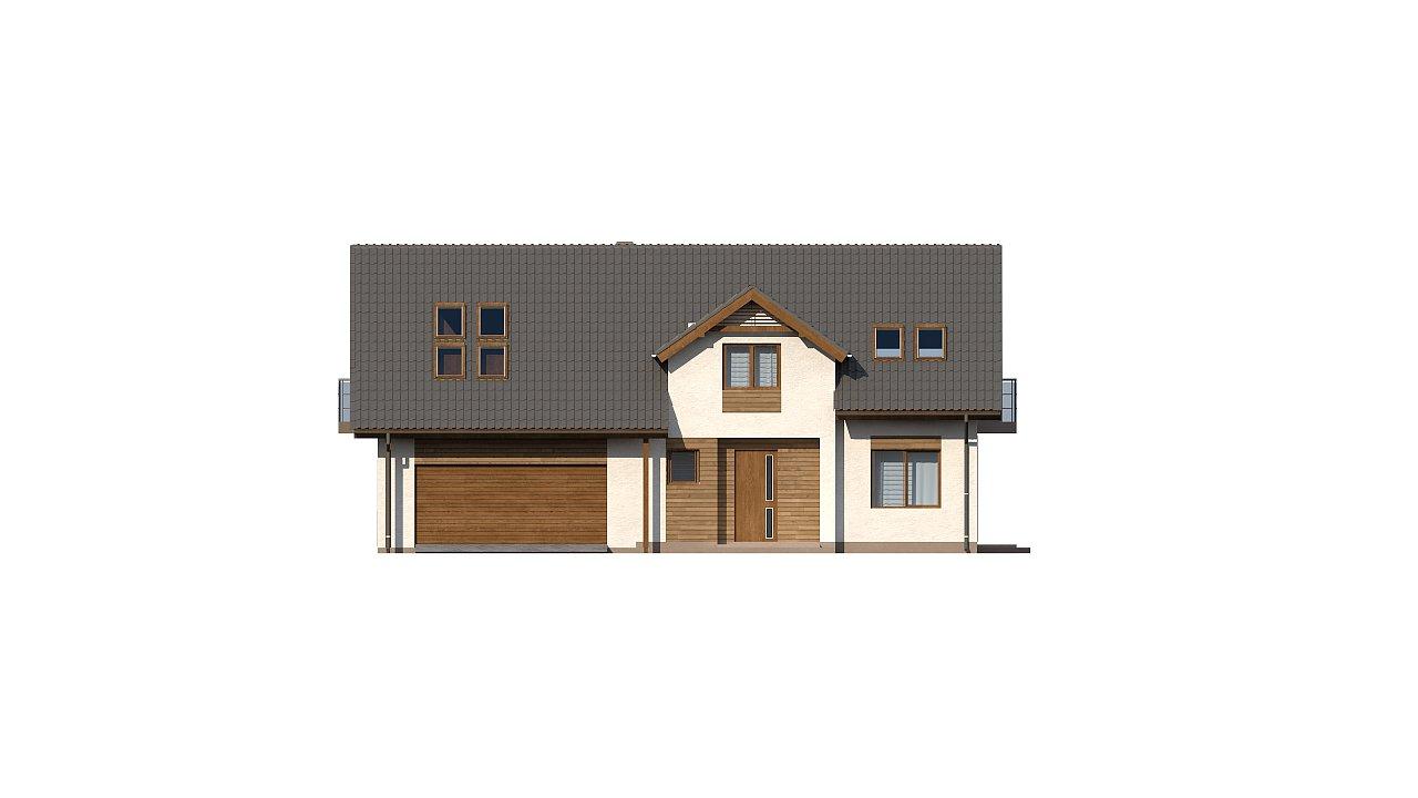 Вариант типового проекта Z172 c добавленным гаражом для двух машин 2