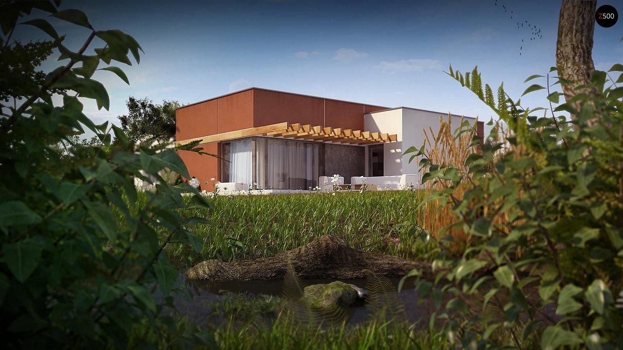 Одноэтажный дом в стиле хай-тек с четырьмя спальнями. - фото 5