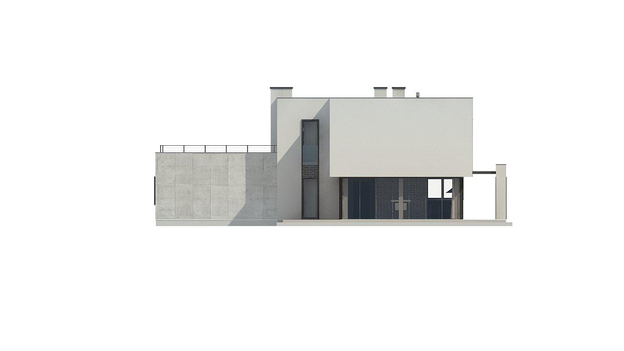 Современный двухэтажный дом с просторной террасой и гаражом на две машины. - фото 13