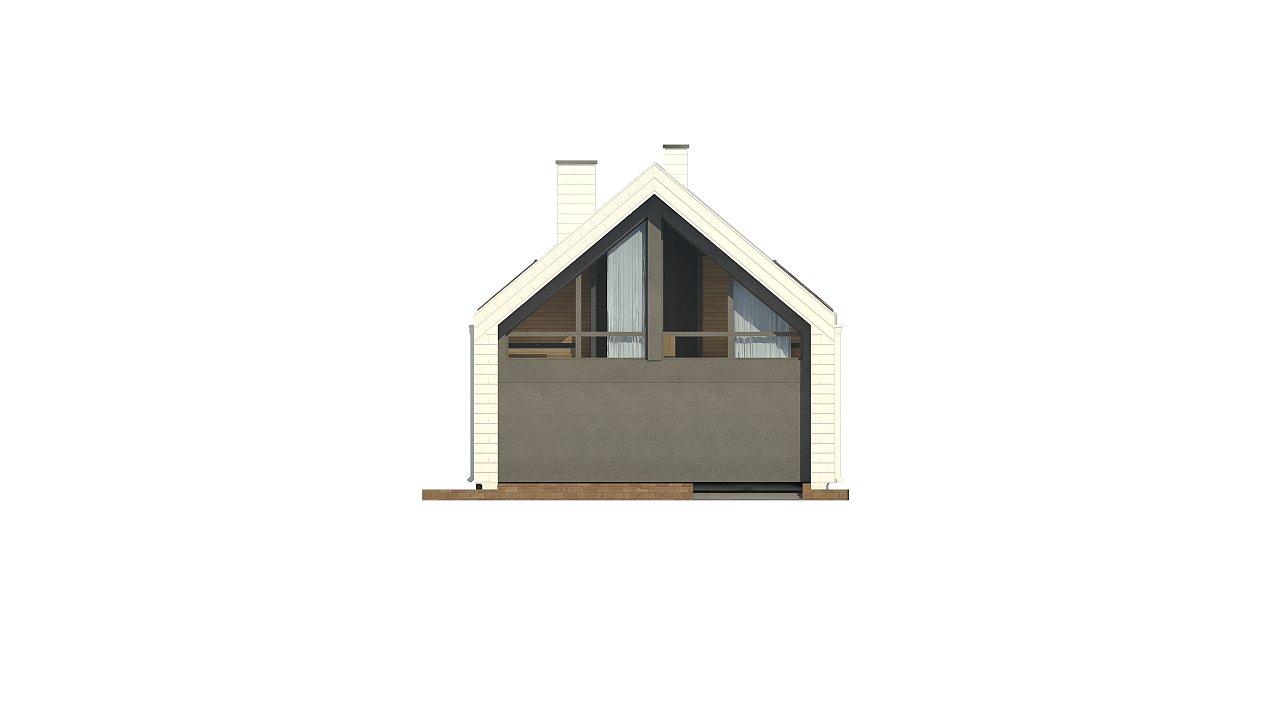 Мансардный дом со встроенным гаражом для одного автомобиля. 15
