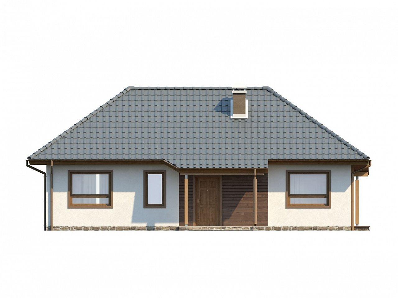 Проект одноэтажного классического дома адаптированного для каркасной технологии строительства. - фото 14