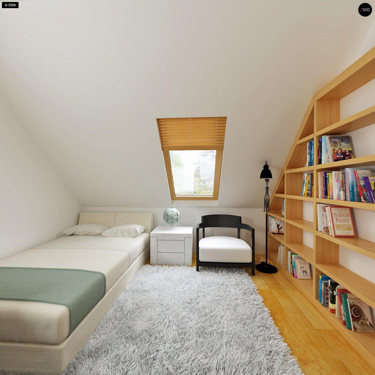 Практичный дом для небольшого участка, простой в строительстве, дешевый в эксплуатации. 17
