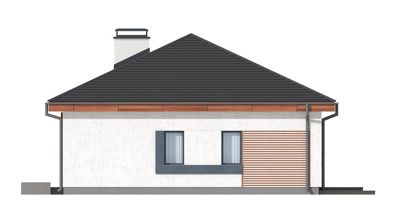 Проект стильного одноэтажного дома в классическом стиле. 21