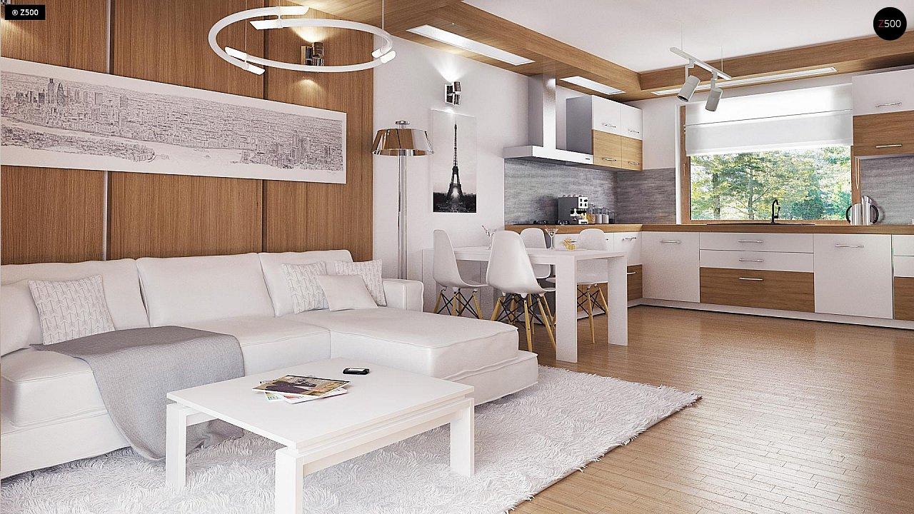 Экономичный в реализации одноэтажный дом с просторной гостиной и двумя спальнями. 5