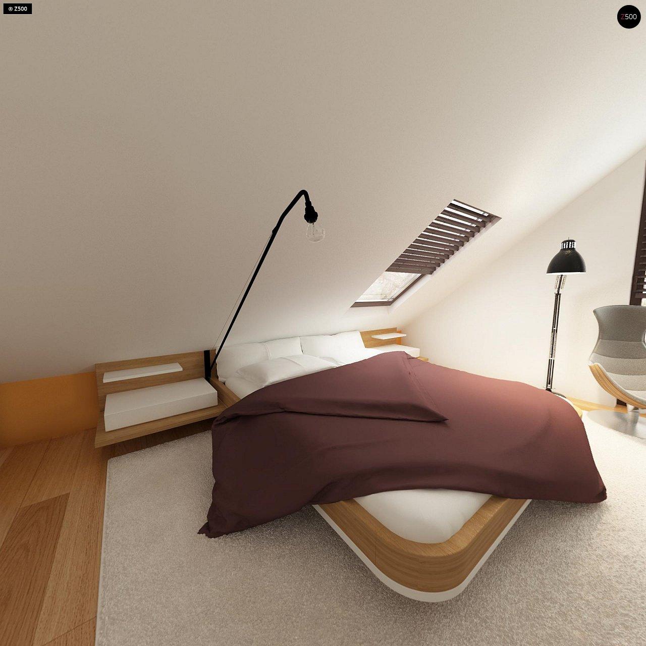 Небольшой дом с дополнительной комнатой на первом этаже, большим хозяйственным помещением и эркером в столовой. 12