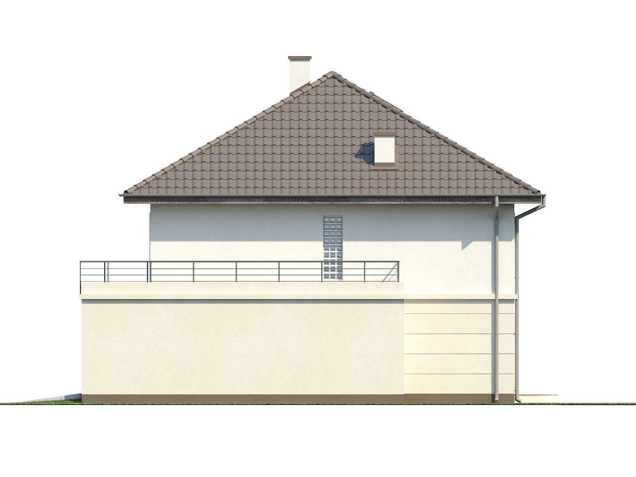 Просторный двухэтажный дом простой формы с террасой над гаражом. - фото 7
