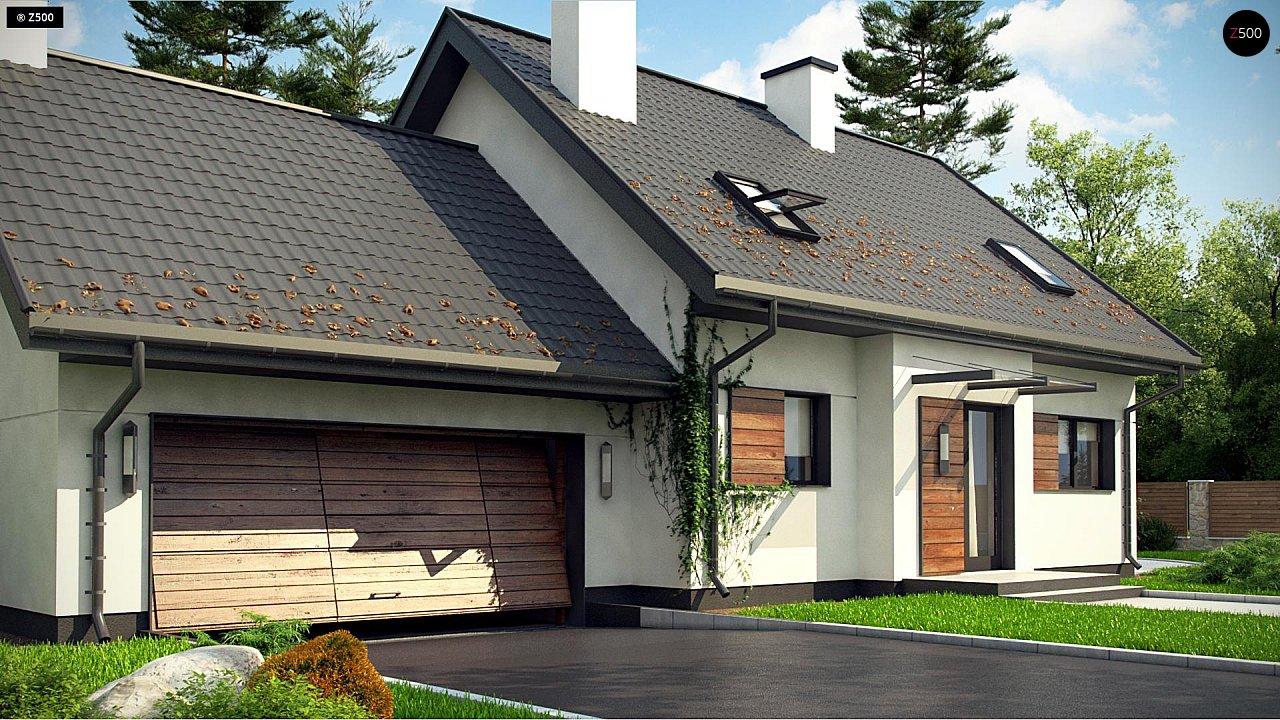 Аккуратный мансардный дом с гаражом для двух автомобилей 6