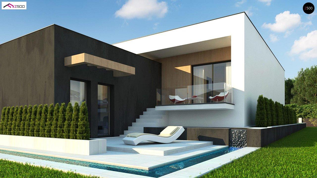 Проект современного двухэтажного дома с большой площадью. остекления. - фото 5