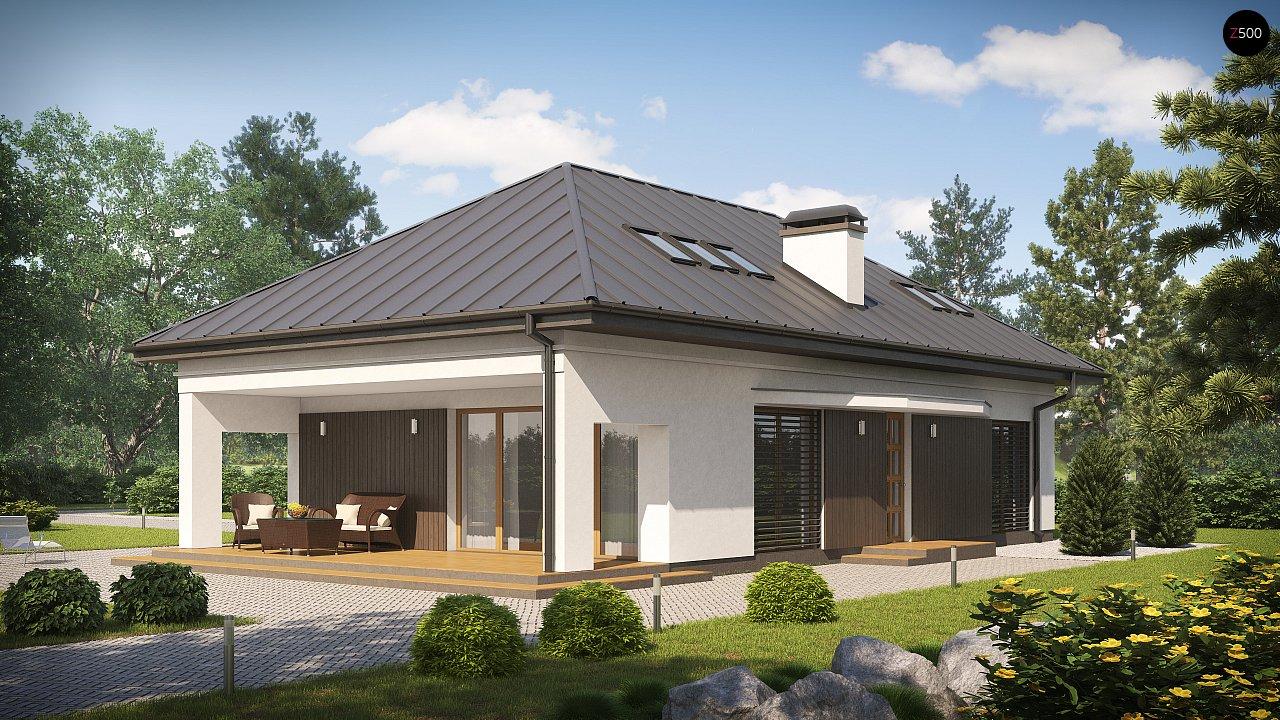 Версия проекта Z85 с современным оформлением фасадов. 1