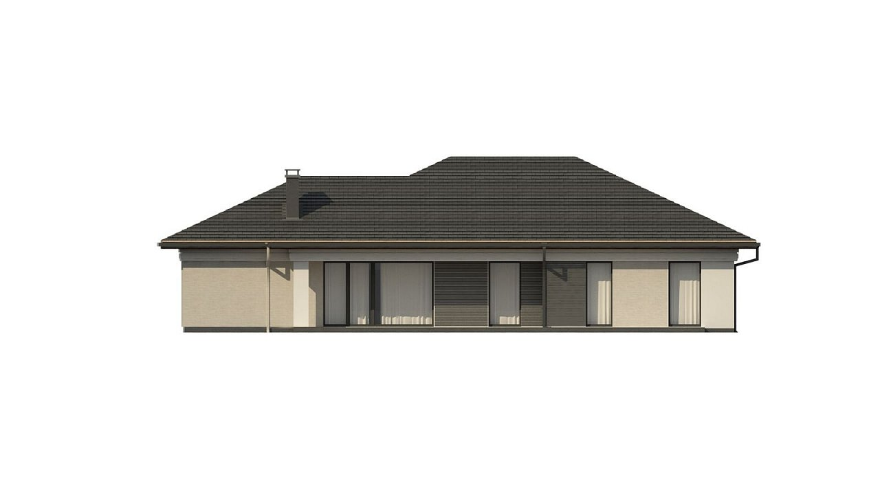 Прекрасный одноэтажный дом в современном стиле и гаражом на одну машину. - фото 8