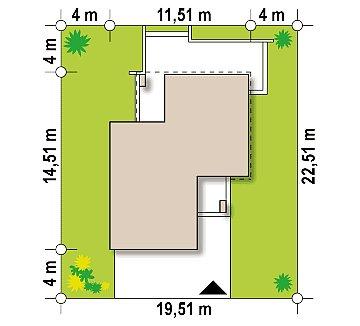 Двухэтажный дом с гаражом на две машины план помещений 1