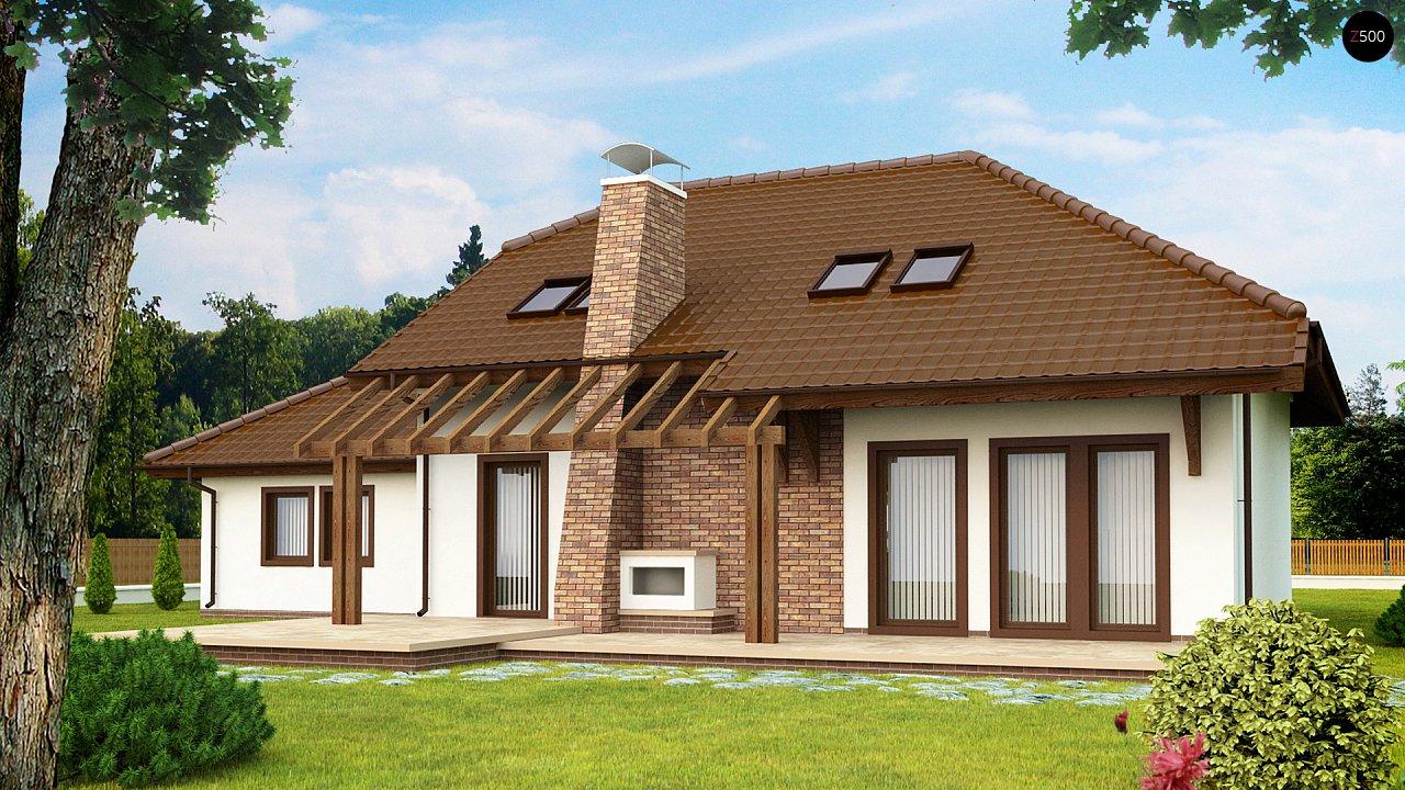 Проект комфортного дома с большим гаражом и дополнительной спальней на первом этаже. 2