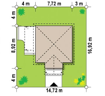 Проект маленького уютного дома с функциональной планировкой. Оснащен всем необходимым для постоянного проживания. план помещений 1