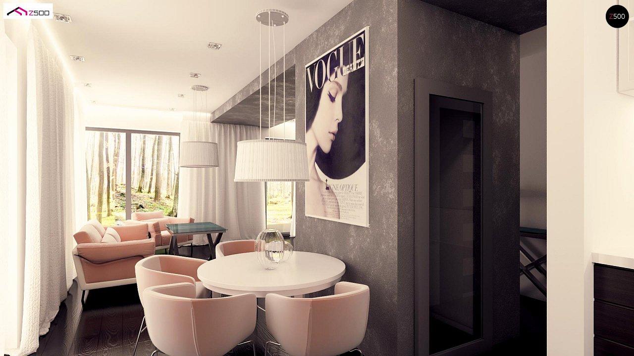 Вариант двухэтажного дома Zx92 с плоской кровлей с плитами перекрытия - фото 10