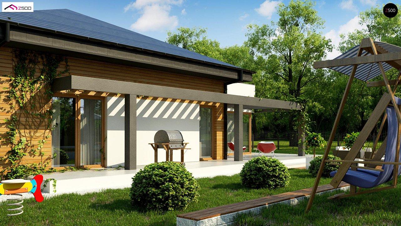 Современный дом с остроконечной крышей бунгало 6