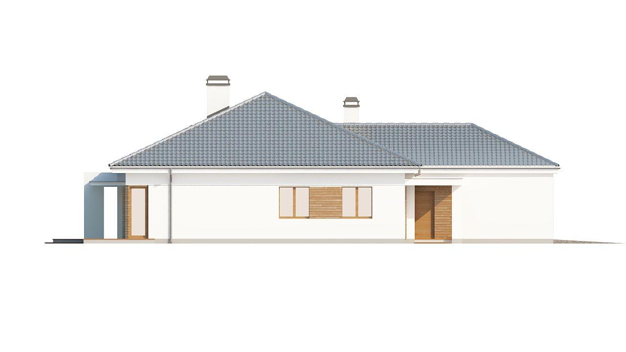 Практичный одноэтажный дом с гаражом, с возможностью адаптации мансарды. 5