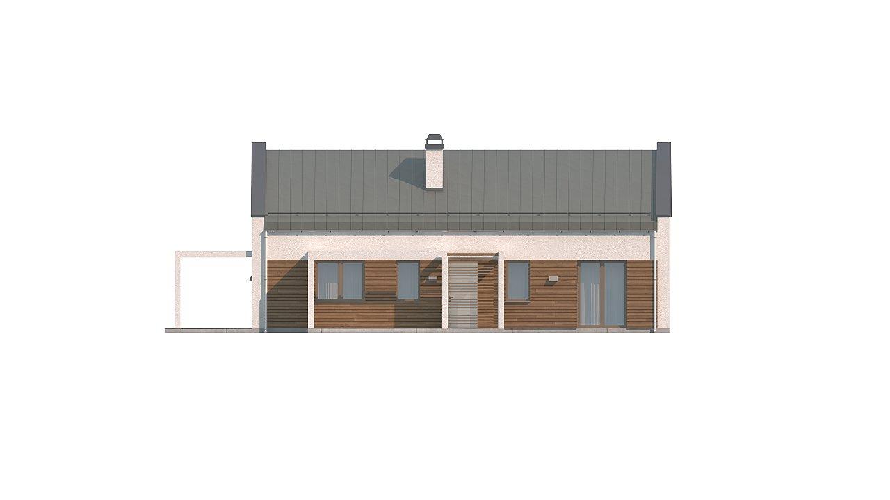 Версия проекта Z258 с гаражом пристроенным справа. - фото 13