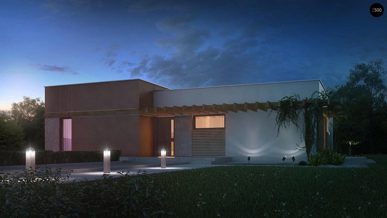 Одноэтажный дом в стиле хай-тек с четырьмя спальнями. - фото 3