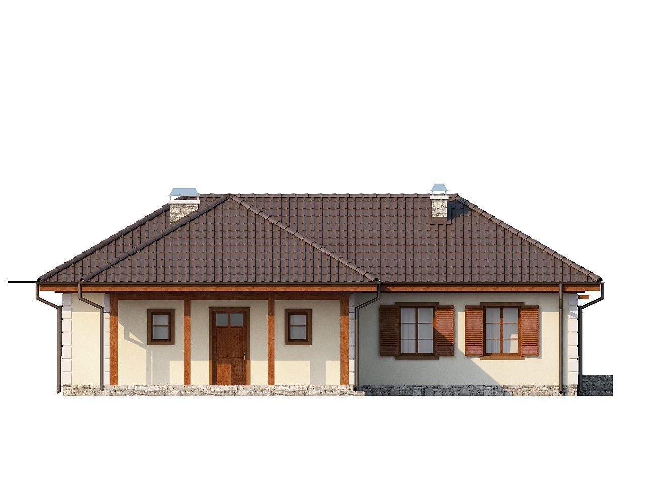 Добротный практичный одноэтажный дом с возможностью обустройства мансарды. - фото 3