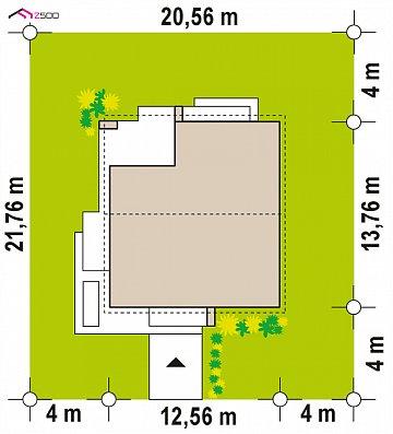 Проект дома с современным дизайном и одноуровневым функциональным интерьером. план помещений 1